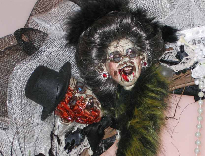 Zombie Wedding Gifts: Halloween Wreaths